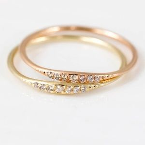 Jewelry - Bundle only ❤️Rose gold plated dainty cz ring